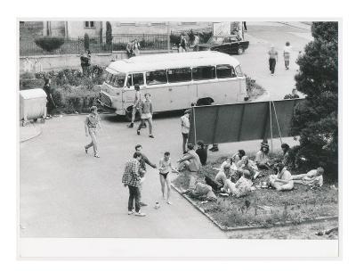 České Budějovice, Jorgi Kvartet, 2 ks fotografií z archivu STB,ca 1985