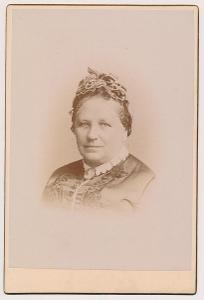 Odkolková Marie (Trödl), 1822-1891 matka J.Odkolka,potrétové foto 1888