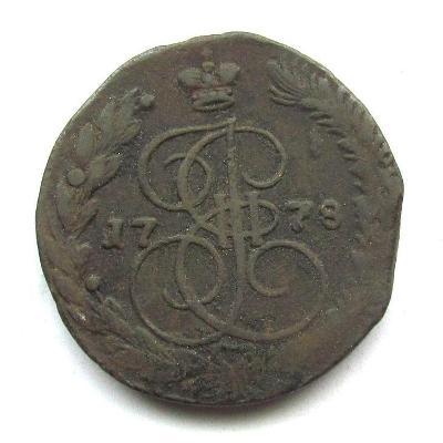 Rusko 5 kop. 1778 EM