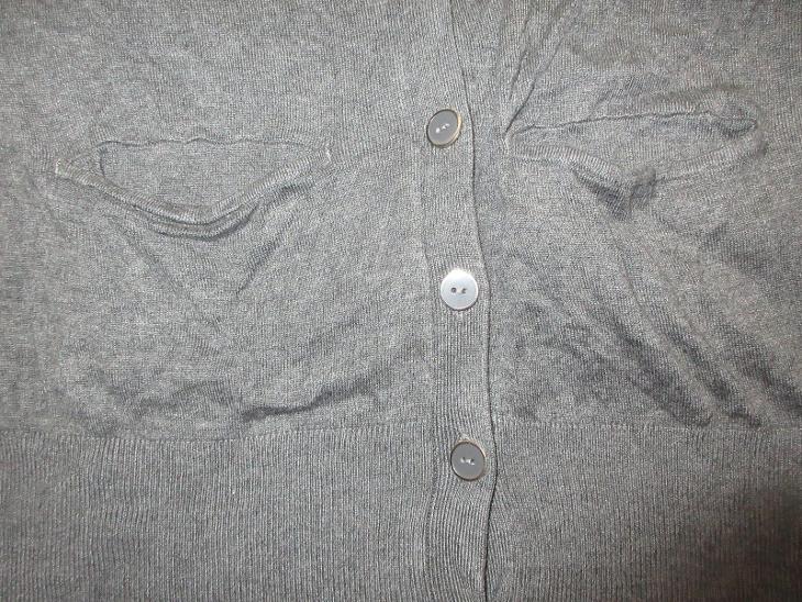 šedý svetr na knoflíjy dlouhý - Dámské oblečení