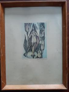 Barevná autorská litografie J.Skřivánek