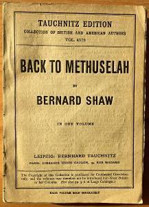 Bernard SHAW  -  Back to Methuselah, anglicky