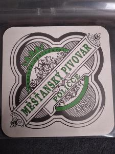 Pivní podtácek - Měšťanský pivovar v Poličce
