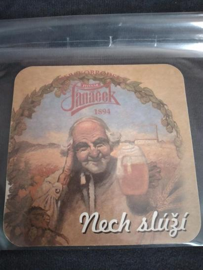 Pivní podtácek - pivovar Janáček  - Nápojový průmysl