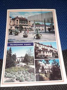 Pohlednice Bardejovské Kúpele, prošlé poštou.