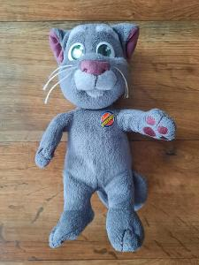 Kocour Talking Tom , mluvící plyšová hračka, funkční. Zakoupeno v UK