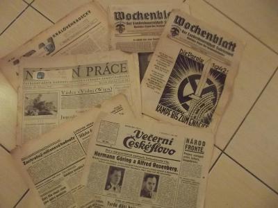 Válečné noviny - půdní nález