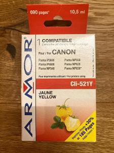 Náplň Armor pro tiskárny Canon CLi521Y - Žlutá