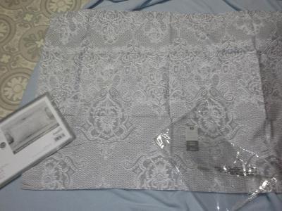 ložní povlečení  polštář šedobílý