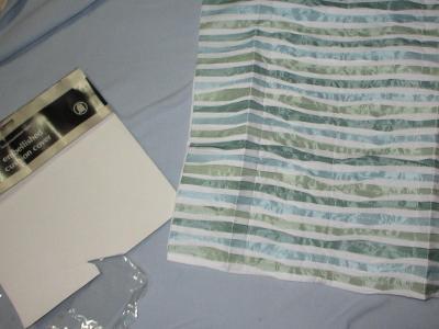 ložní povlečení  polštář  zelenobílý
