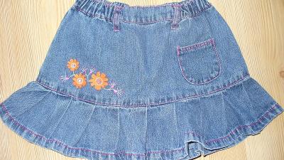 Riflová sukně vel. 2-4 roky