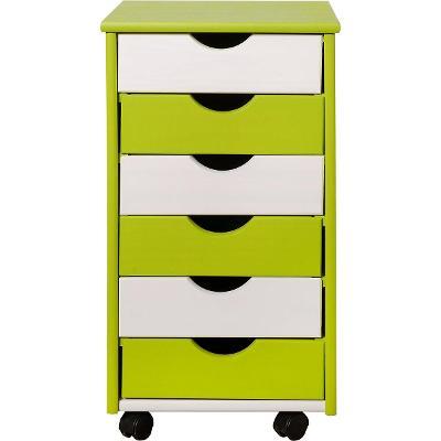 Interlink pojízdní kontejner k dětskému psacímu stolu zeleno-bílý/B057