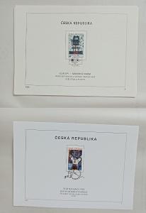 Nálepní listy 1993 (7x) a 1998 (1x)