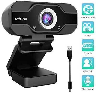 Full HD webkamera TedGem - vysoká kvalita - pův. cena1 000 Kč!