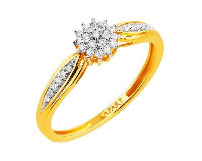 Zlatý zásnubní prsten s brilianty Artelioni/Apart