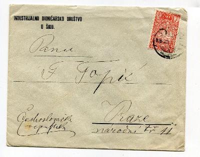 JUGOSLÁVIE - SRBSKO - ŠID - OBÁLKA 1920 ?  /AP 32-6