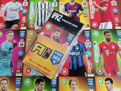 Fotbalové karty FIFA 365 - 2021 : VÝHODNÁ Sada 30.ks. karet !