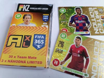 Fotbalové karty Panini FIFA 365 - 2021  : Sada 30.ks. + 2 x LIMITED !