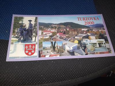 Pohlednice podlouhlý formát Turzovka 2000,neprošlé poštou.