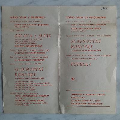 program Májových oslav r. 1973