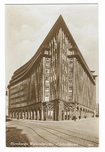 Pohlednice, Hamburg, Německo, MF, 7/43
