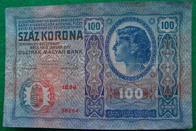 Rakousko - Uhersko - 100 korona 1912