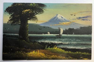 Stará RUČNĚ malovaná pohlednice / dopisnice / pohled JAPONSKO / JAPAN