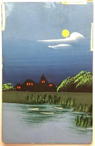 Stará RUČNĚ malovaná pohlednice / dopisnice / pohled ČÍNA / CHINA