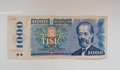 ++1000kč- 1985 - C14 - Nízké číslo...088853+++