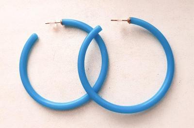 Krásné Náušnice Kruhy Modré, číst podmínky prodeje