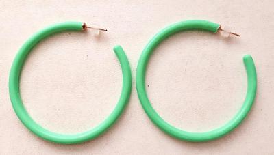Krásné Náušnice Kruhy Zelené, číst podmínky prodeje