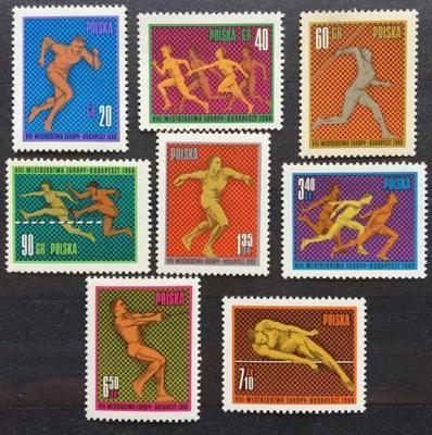 Polsko 1966 Známky Mi 1680-1687 ** sport Lehká atletika hod oštěpem