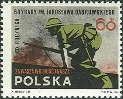 Polsko 1966 Známky Mi 1717 ** Španělská občanská válka