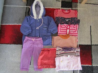 Set oblečení pro holku ve věku 12/18 měsíců,vel.86/92 - 10 ks