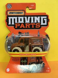Divco Milk Truck - Matchbox moving parts - ZLOMENÁ KARTA