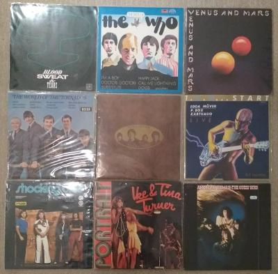 9 x LP rock (The Who, Beatles, Ike & Tina Turner, Wings, The Tornados)