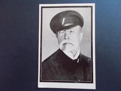 Praha úmrtí smrt President Masaryk razítko smutek finanční stráž účast