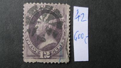 USA - razítkovaná známka katalogové číslo 42