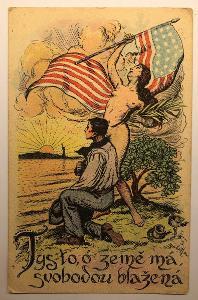 Stará pohlednice / dopisnice / pohled USA - NEW YORK - SOCHA SVOBODY