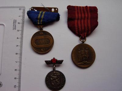 Vyznamenania - SMZ - 3 kusy rôzne