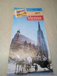 Retro reklamní mapka Vídně - viz foto