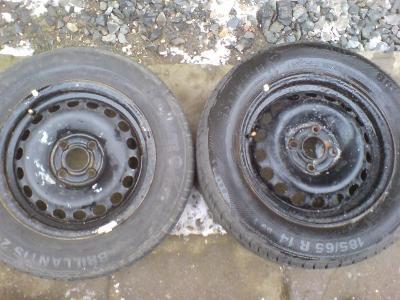Disky GM/Opel + letní pneu 185/65/14, 2x