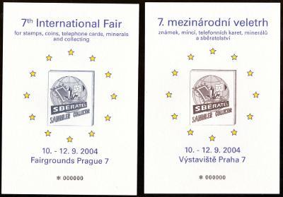 2 PAMĚTNÍ LISTY SBĚRATEL 2004 - OCELORYTINA, NULOVÉ KUSY (S1466)