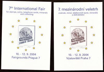 2 PAM. LISTY SBĚRATEL 2004, OCELORYTINA, BEZ Č., PODPIS TVRDOŇ (S1467)