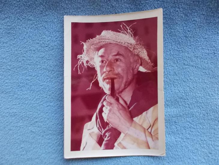 Foto Veverka Československo herec Národní umělec Pešek Ladislav - Pohlednice
