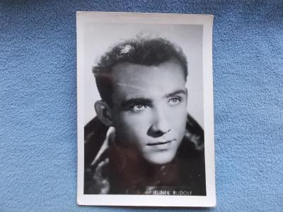 Foto Karlovy Vary  Československo herec Rudolf Jelínek
