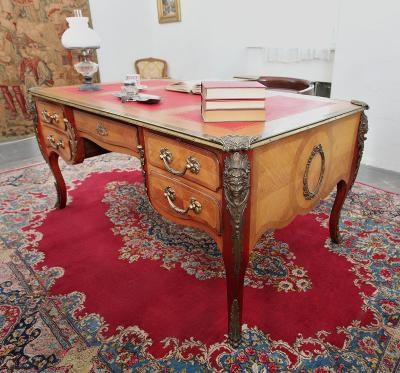 Empírový psací stůl. Starožitný. Velký