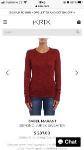 Červený třpytivý svetr