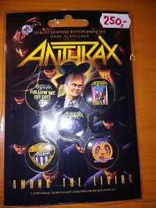 Prodám sběratelskou edici placek/odznaků Anthrax