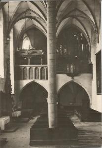 TŘEBOŇ - interiér kostela sv. Jiljí - Jindřichův Hradec